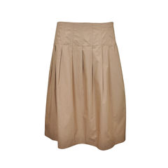 A Line Skirt with Pleats