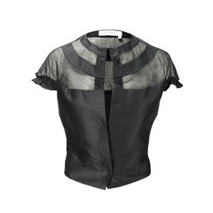 Yves saint laurent mesh neck bolero 2