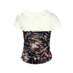 Rebecca taylor printed collar top 2