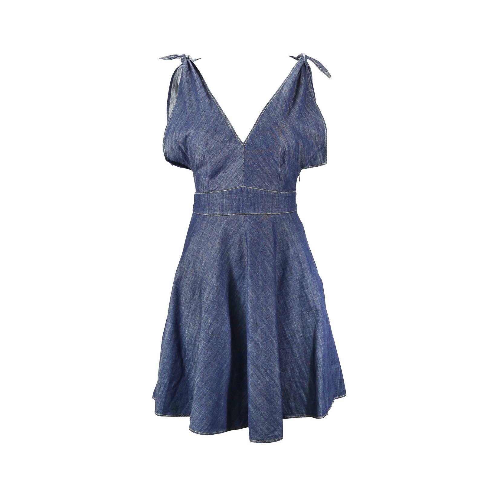 Authentic Pre Owned Derek Lam Denim Dress Pss 147 00009 Thumbnail