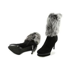 Stuart weitzman rabbit fur boots 2