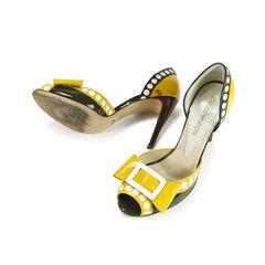 Emporio armani peep toe bow pumps 2