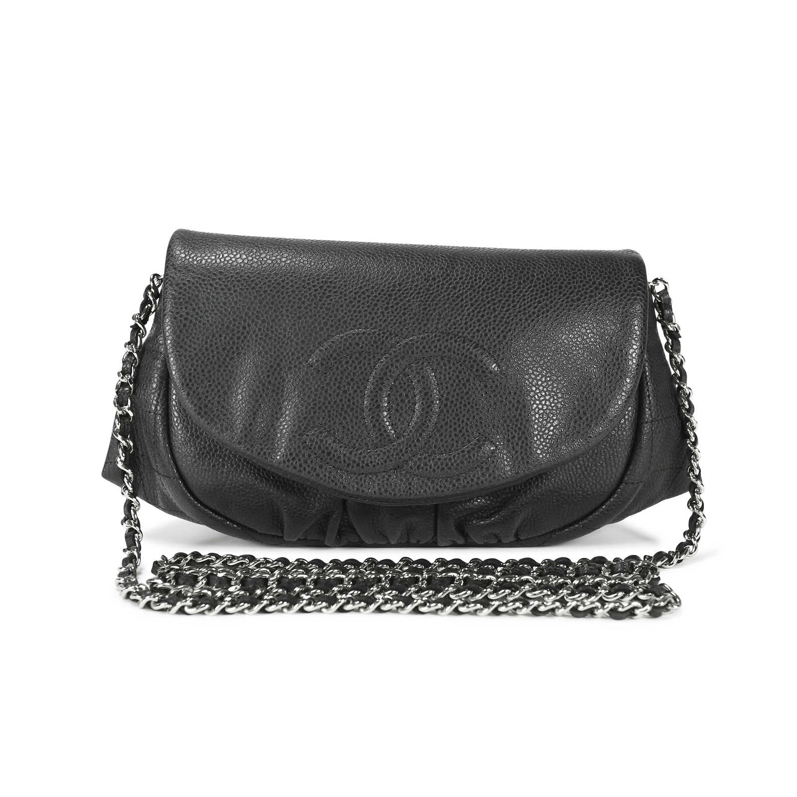 b0e9dcc59dbe52 Authentic Second Hand Chanel Half Moon Wallet on Chain Bag (PSS-145-00018  ...