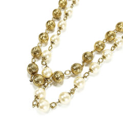Chanel pearl and chain link necklace 2