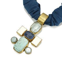 Joyce makitalo turquoise and ribbon necklace 2