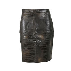 Leather Embossed Skirt