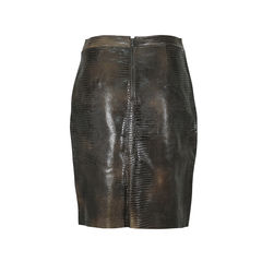 Max azaria leather embossed skirt 2