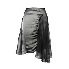 Mesh and Zip Detail Skirt