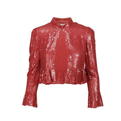 Ruffled Sequin Jacket