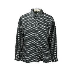 Printed Houndstooth Blouse