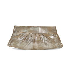 Eve Snap Metallic Lizard Clutch