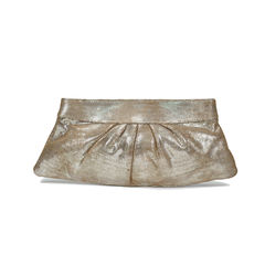 Lauren merkin eve snap metallic lizard clutch 2