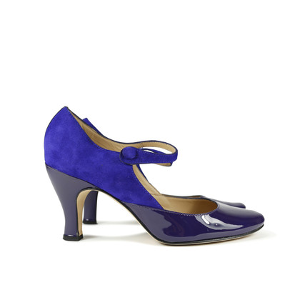 Authentic Second Hand Repetto Violet Palace Mary Jane Heels (PSS-156-00040)