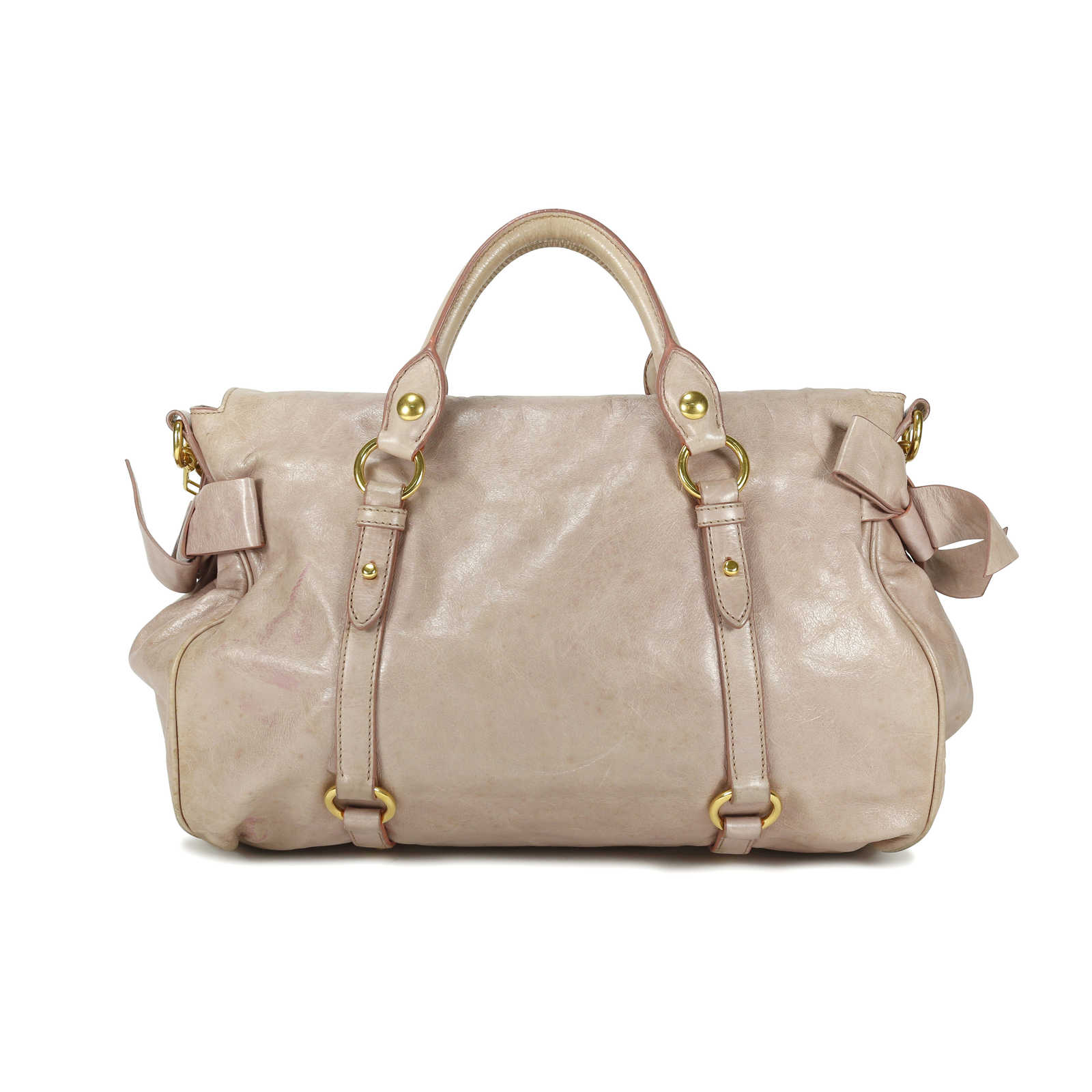 ... Authentic Second Hand Miu Miu Vitello Lux Bow Bag (PSS-150-00002) ... 7a02ce62f7069