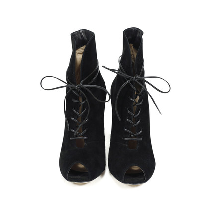Authentic Second Hand Gianvito Rossi Lace Up Booties (PSS-143-00014)