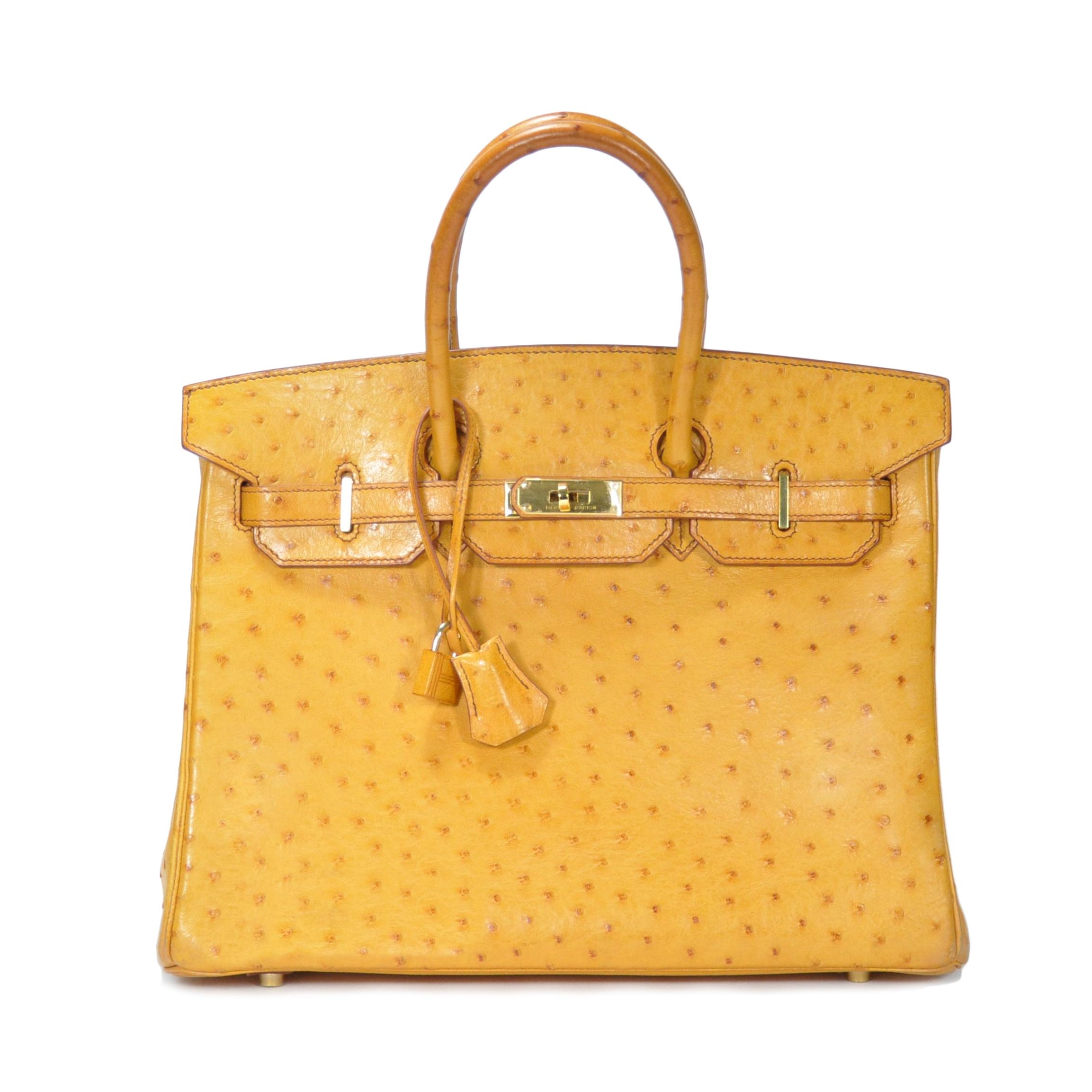 70689b5bb9b Authentic Vintage Hermès Ostrich Tabac Birkin 35 (PSS-147-00032 ...
