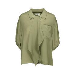 Faux Tie Loose Shirt