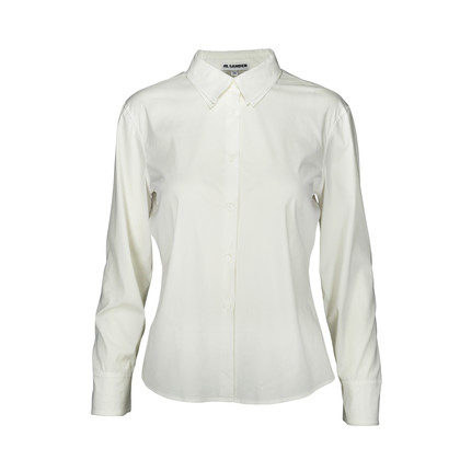 Authentic Second Hand Jil Sander Off White Double Collared Shirt (PSS-054-00097)