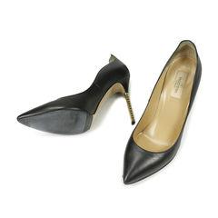 Valentino black rockstud studded heel pump 2