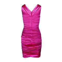 Dolce and gabbana ruched satin dress 2