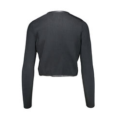 Barney s new york knit jacket with leather details 2