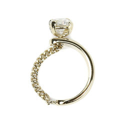 Solitaire Chain Ring