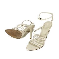 Herve leger lamb leather heels 2