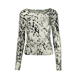 Snow Leopard Sequinned Cardigan