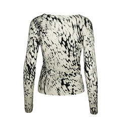 Blumarine snow leopard sequinned cardigan 2