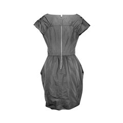 Nina ricci ruched crepe dress 2