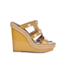 Authentic Second Hand Christian Louboutin Patent and Braided Wedges (PSS-093-00009) - Thumbnail 1