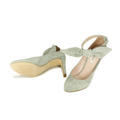 Carven ankle bow suede pumps 2