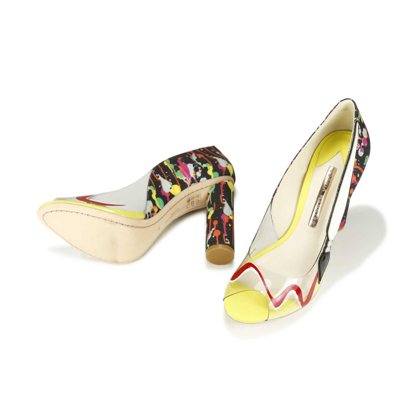 Leder sneakers - aus zweiter Hand Sophia Webster MzAfJsn