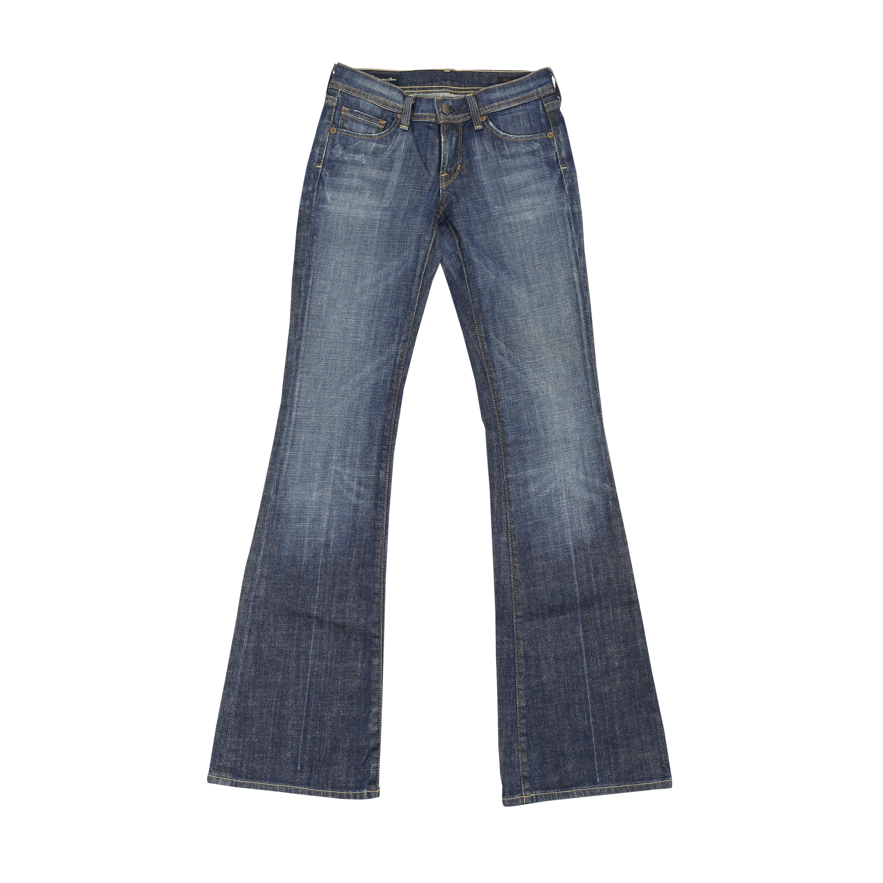 second hand citizens of humanity low waist flare jeans. Black Bedroom Furniture Sets. Home Design Ideas