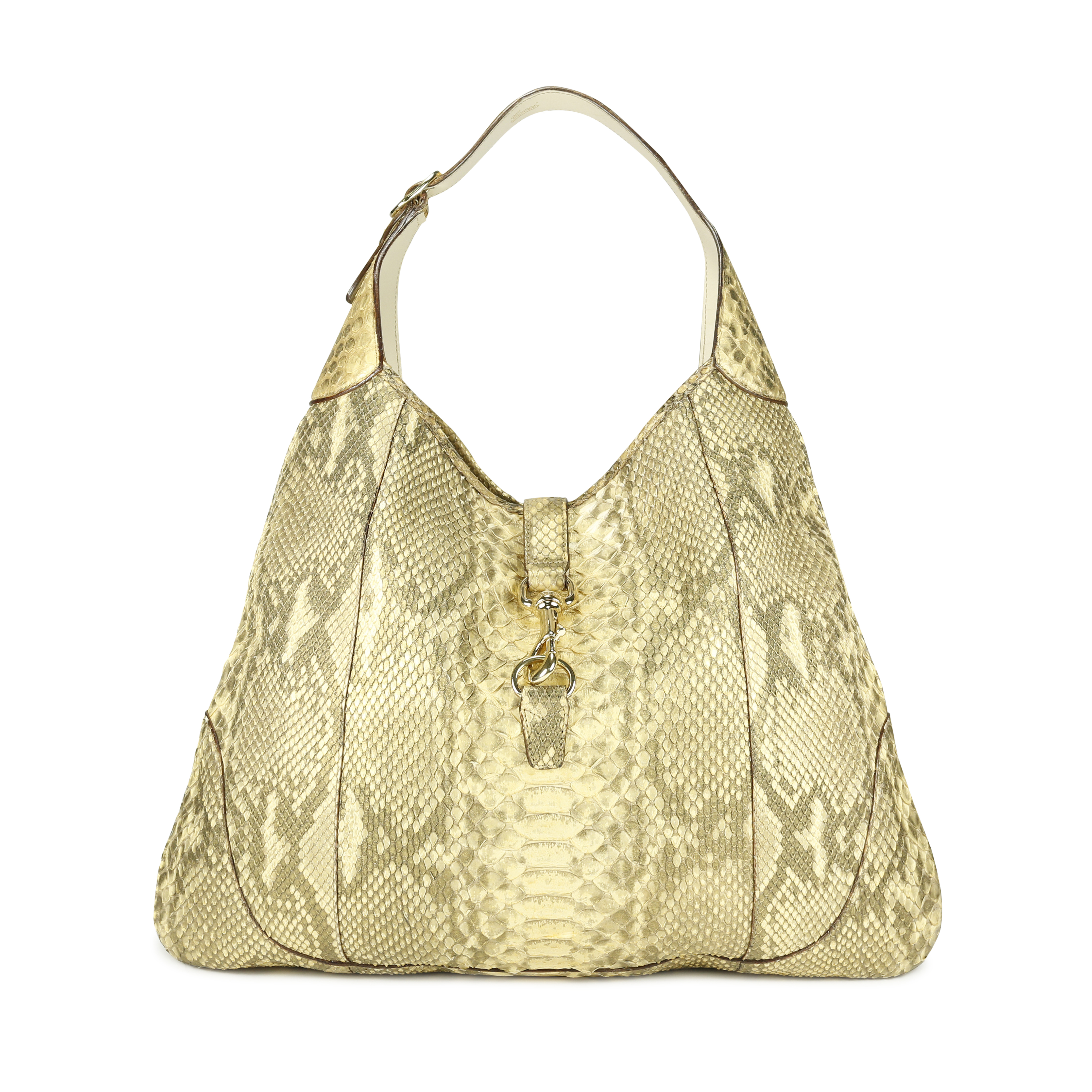 a547ee0750eb9b Authentic Second Hand Gucci Python Jackie O Bouvier Hobo Shoulder Bag  (PSS-171-00017) | THE FIFTH COLLECTION