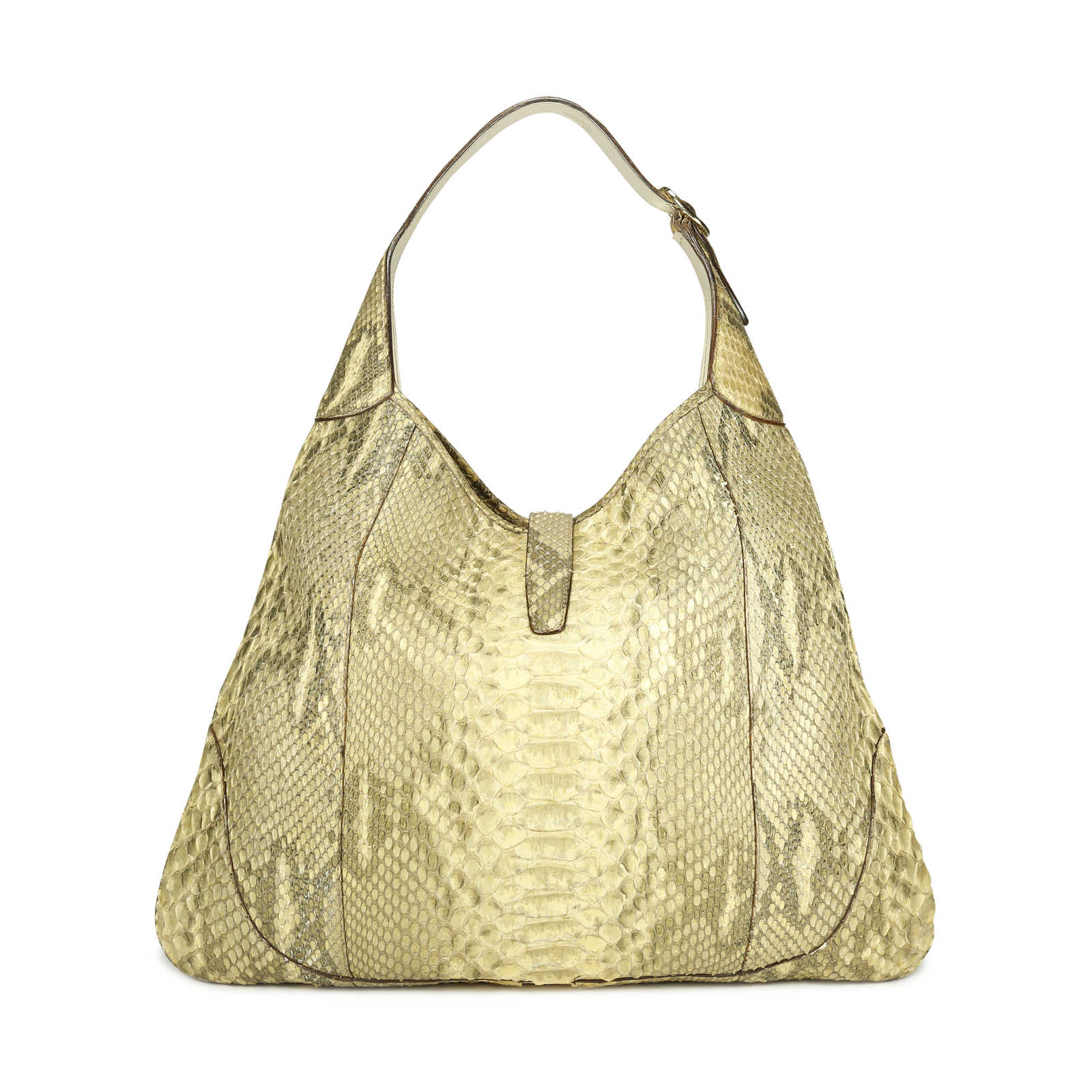 6a887c080a2a ... Authentic Second Hand Gucci Python Jackie O Bouvier Hobo Shoulder Bag  (PSS-171- ...