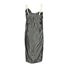 Lanvin satin bow and ciffon straps dress 2