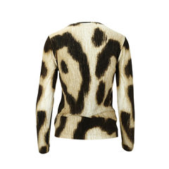 Blumarine printed long sleeved cardigan 2