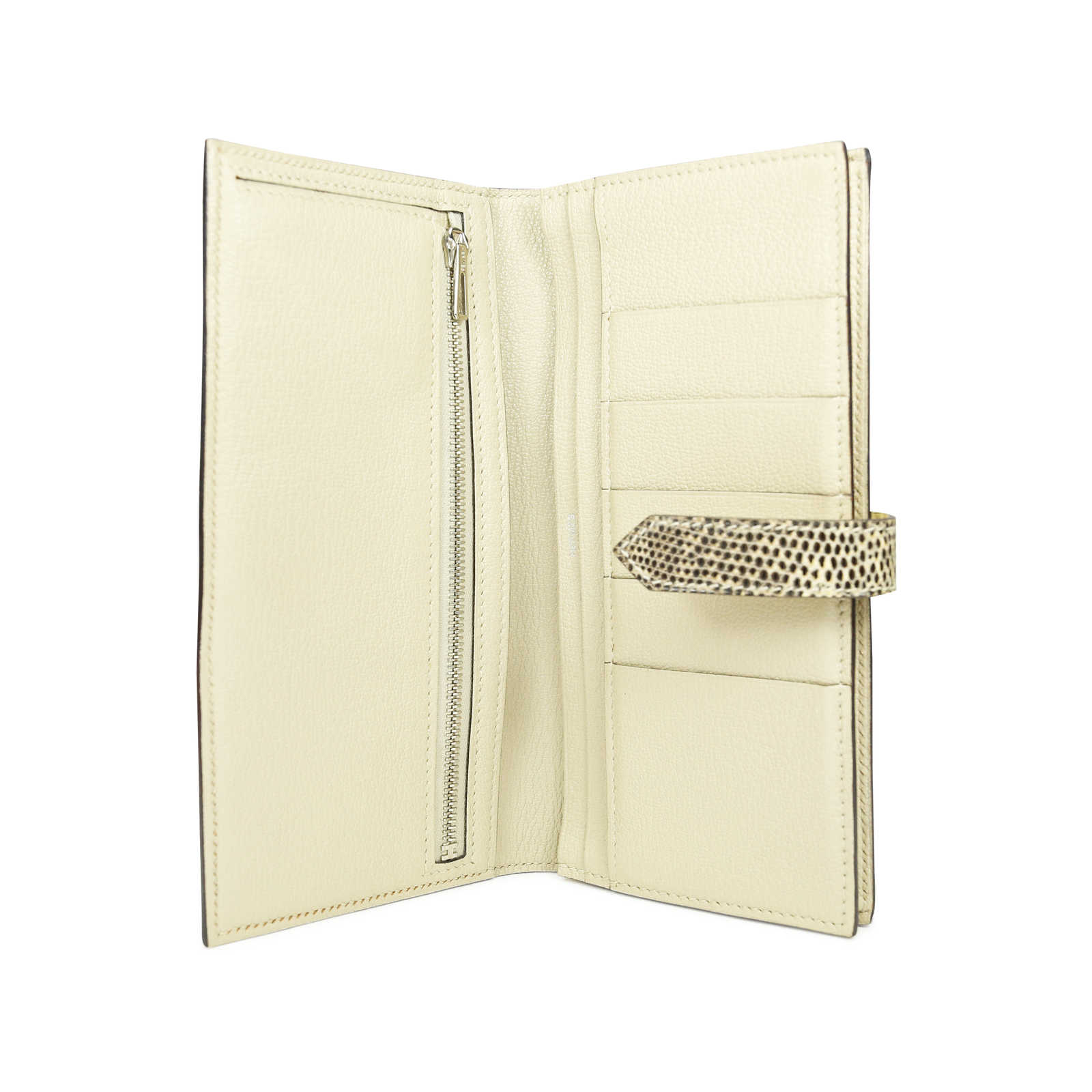 9fb026fc8ccc ... Authentic Second Hand Hermès Ombre Lizard Bearn Wallet (PSS-071-00061)  ...