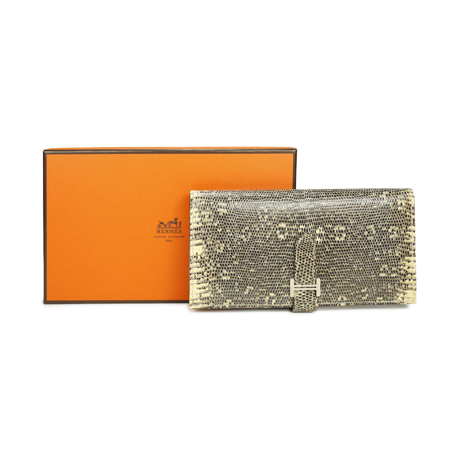 ae26678e113f ... Authentic Second Hand Hermès Ombre Lizard Bearn Wallet (PSS-071-00061) -