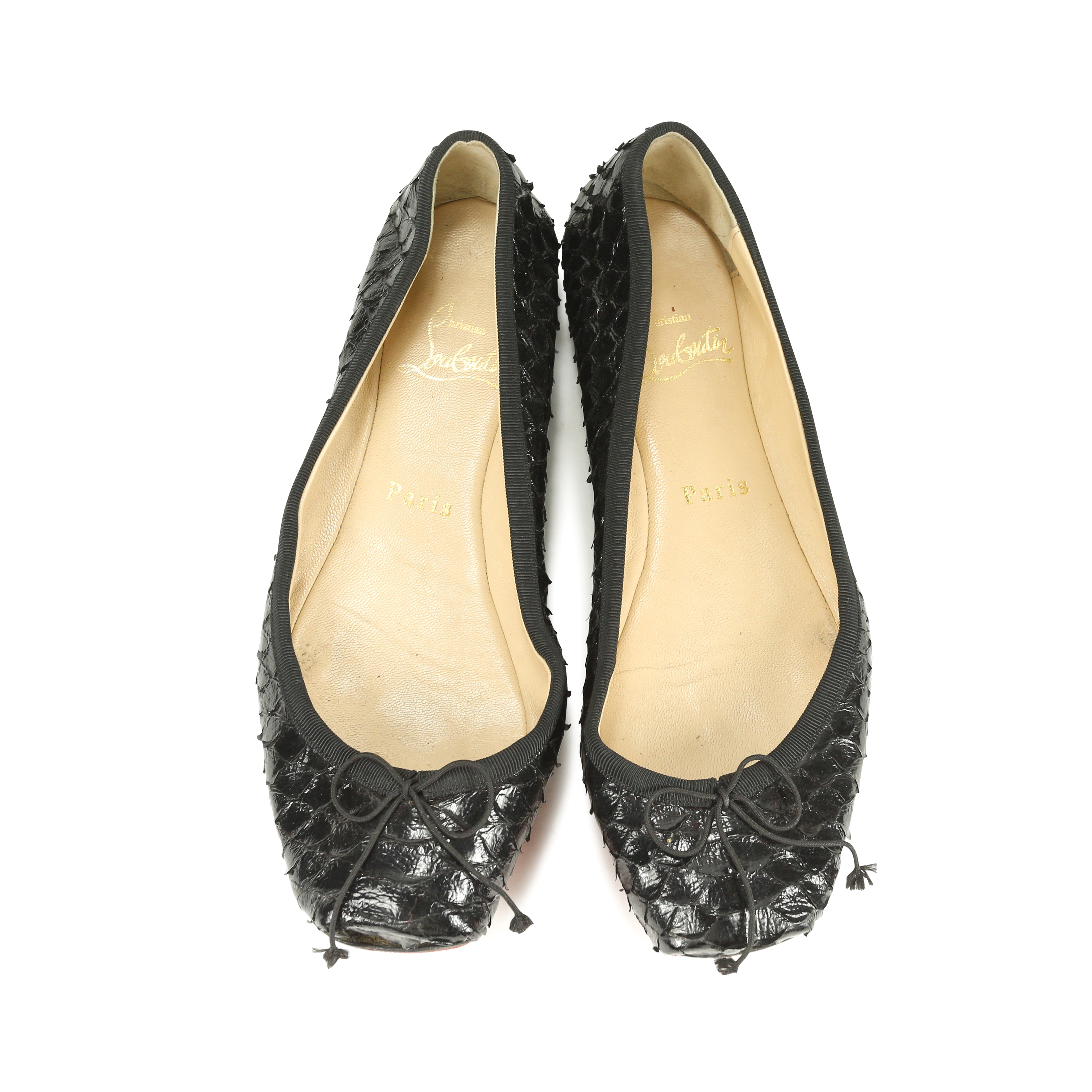d621ded72304 ... australia second hand christian louboutin python rosella flats the  fifth collection fa988 d79c5
