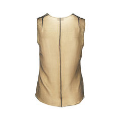 Akris square neck sleeveless blouse 2