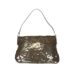 46a2a102cef2 Sequinned Paillettes Mama Baguette Bag Hermes etoupe birkin 40 2