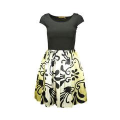 Ombre Combo Trellis Print Dress