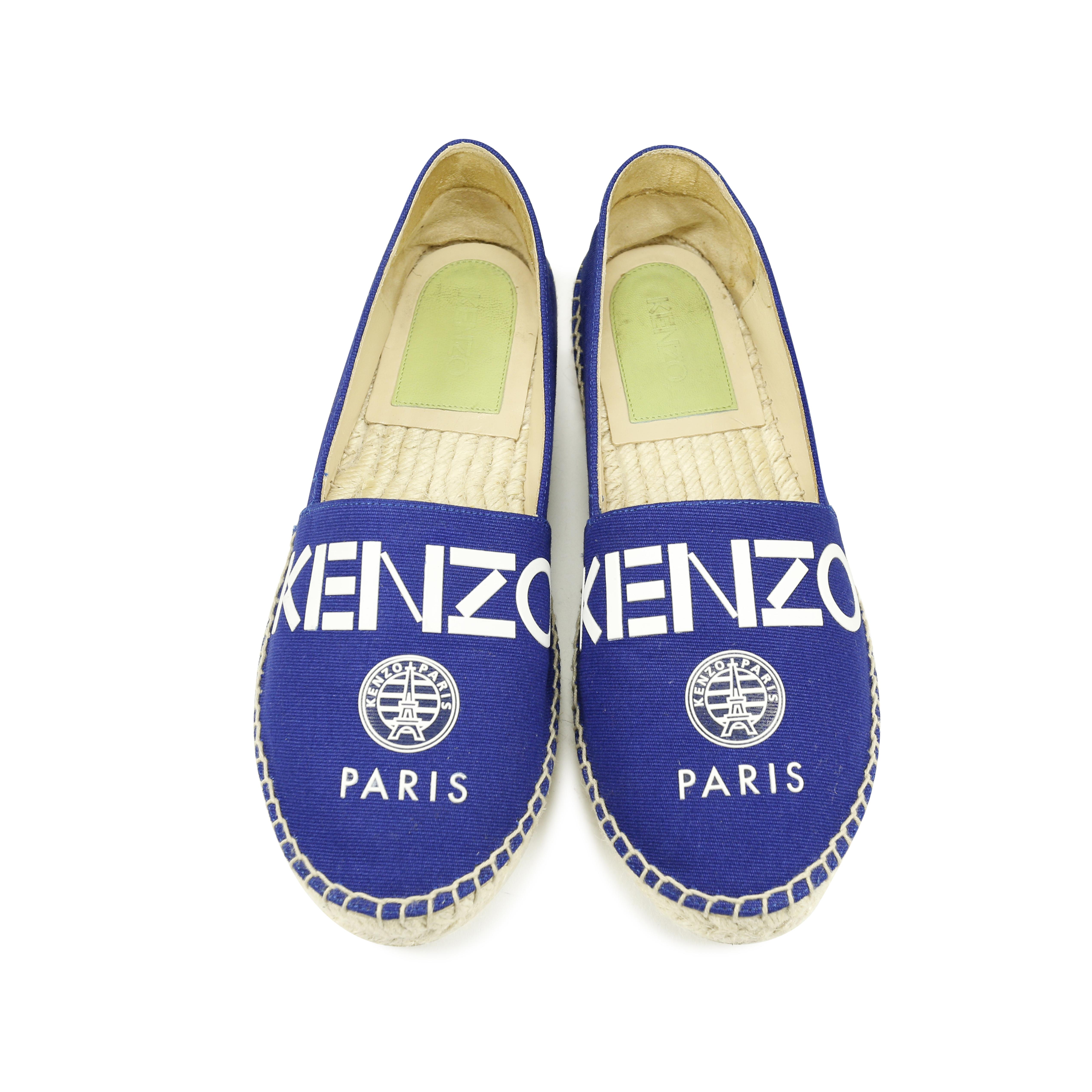 Kenzo Logo Espadrilles - Bleu QYw1LDgGFY