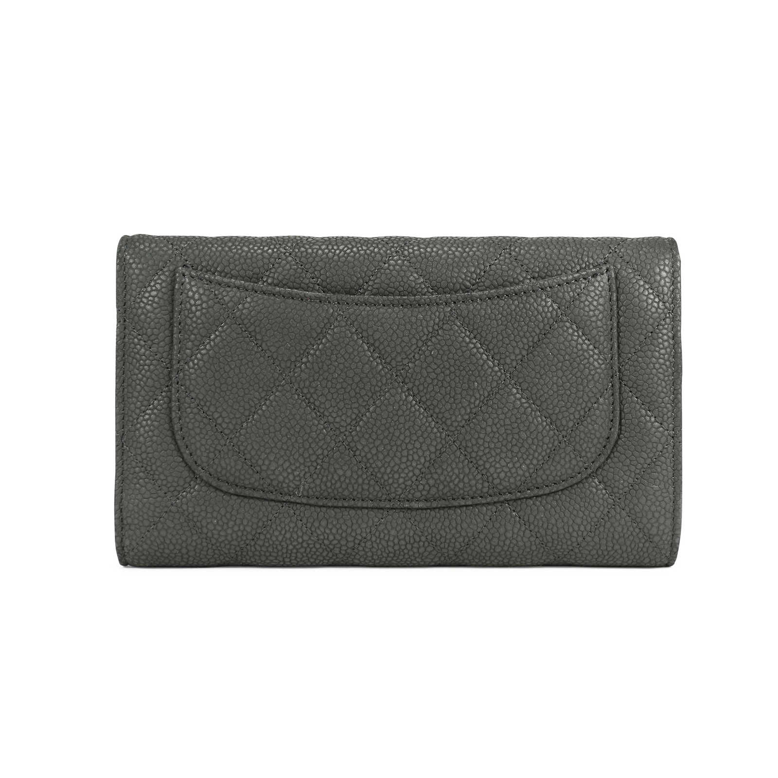 20466bee328eaf ... Authentic Second Hand Chanel Caviar Quilted Gusset Long Flap Wallet  (PSS-092-00013 ...