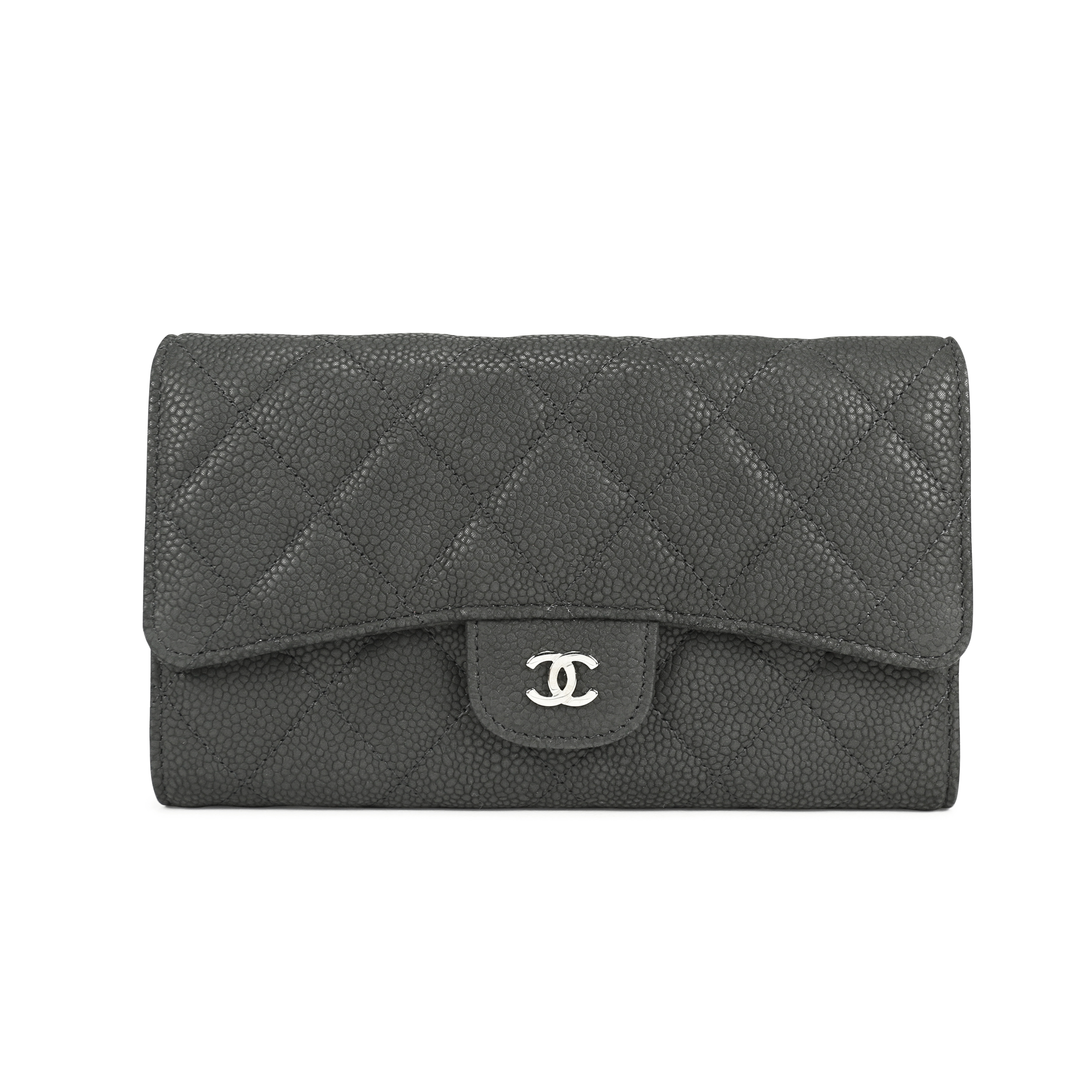 7e894a09ed4ea2 Authentic Second Hand Chanel Caviar Quilted Gusset Long Flap Wallet  (PSS-092-00013) | THE FIFTH COLLECTION