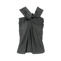 Knotted Asymmetrical Racerback Top