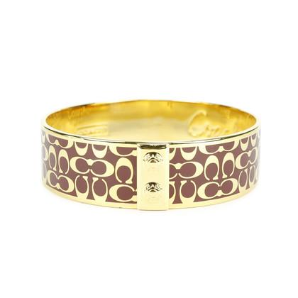 Authentic Second Hand Coach Monogram Bracelet Cuff (PSS-164-00003)