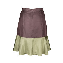 Carven silk colour block skirt 2